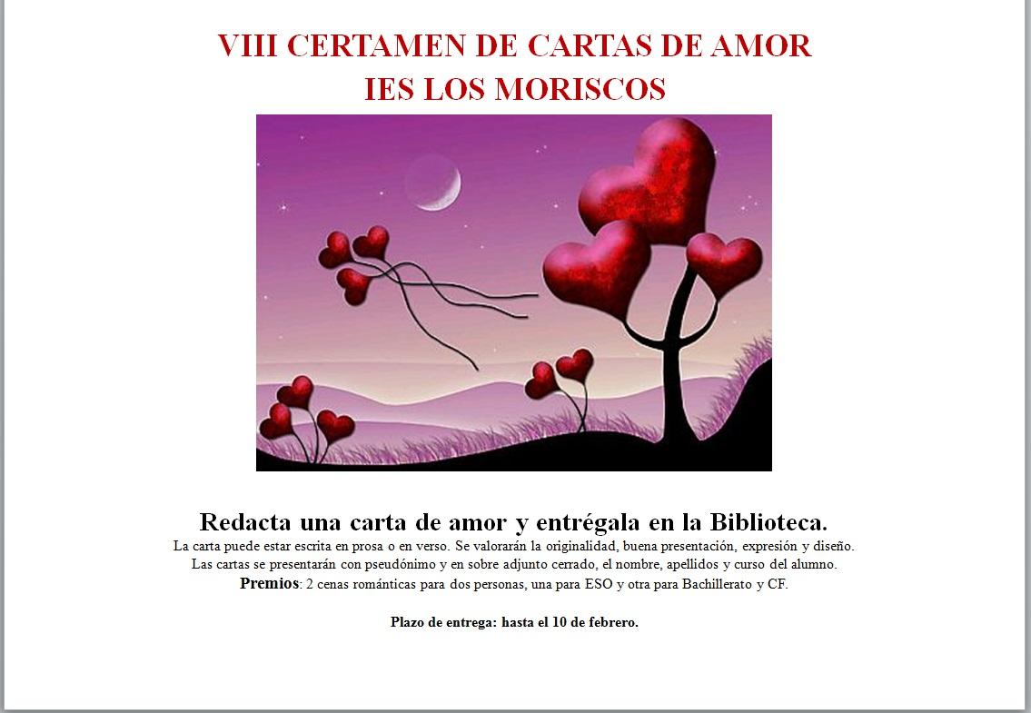 VIII CERTAMEN CARTAS DE AMOR